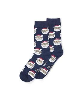 جوراب ساق دار نانو پاتریس طرح بابانوئل سرمهای