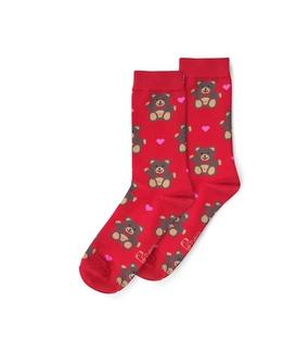 جوراب ساق دار نانو پاتریس طرح خرس قرمز