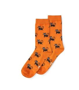 جوراب ساقدار نانو پاتریس طرح گربه نارنجی