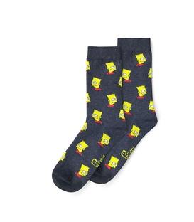 جوراب ساق دار نانو پاتریس طرح سیمپسون دودی