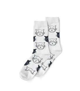 جوراب ساق دار نانو پاتریس طرح گربه سفید