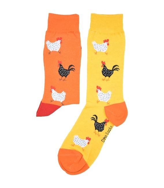 جوراب ساق دار داینو ساکس طرح مرغ و خروس