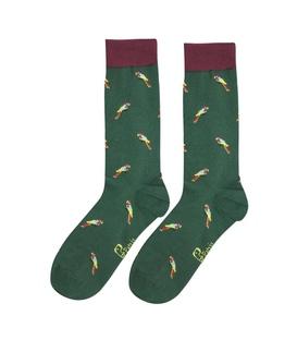 جوراب ساق دار نانو پاتریس طرح طوطی سبز