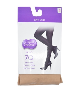 جوراب شلواری پریزن طرح ساده کرم 70