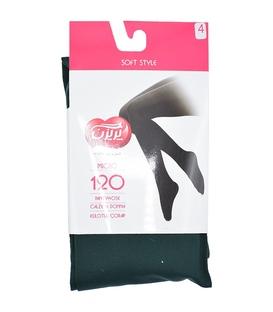 جوراب شلواری پریزن طرح ساده سبز یشمی 120