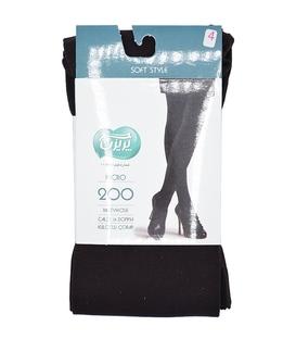 جوراب شلواری پریزن ساده قهوهای 200