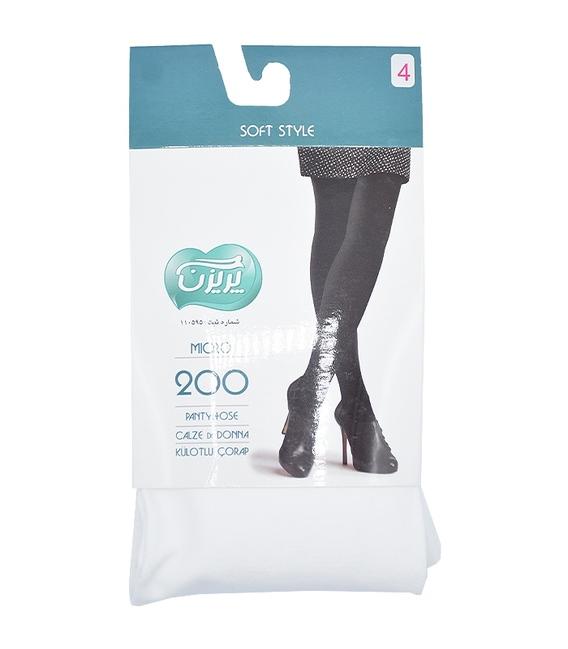 جوراب شلواری پریزن طرح ساده سفید 200