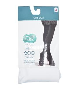 جوراب شلواری پریزن ساده سفید 200