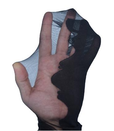 جوراب شلواری شیشهای دو رنگ