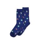 جوراب ساق دار نانو پاتریس طرح کهکشان سرمهای