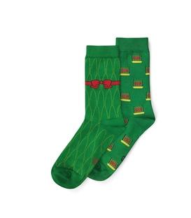 جوراب ساق دار نانو پاتریس طرح سبزه