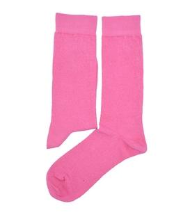 جوراب ساقدار هپی و مپی طرح دار صورتی