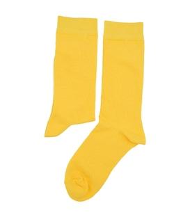 جوراب ساقدار هپی و مپی طرح دار زرد