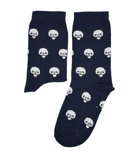 جوراب ساق دار بوم طرح پاندا سرمهای