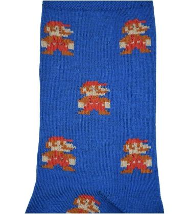 جوراب ساق دار بوم طرح سوپر ماریو آبی