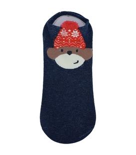 جوراب قوزکی طرح خرس ملوان سرمهای