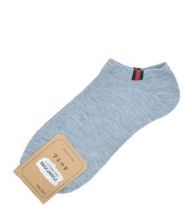 جوراب قوزکی طرح سه خط گوچی خاکستری