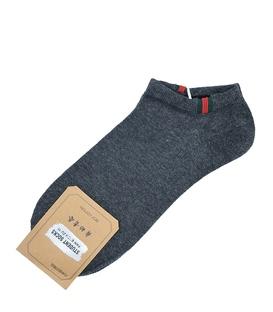 جوراب قوزکی طرح سه خط گوچی خاکستری تیره