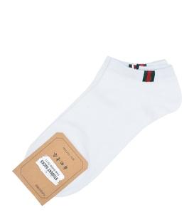 جوراب قوزکی طرح سه خط گوچی سفید
