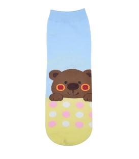 جوراب نیم ساق عروسکی طرح خرس خوابالو آبی