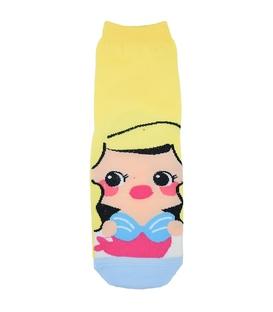 جوراب نیم ساق عروسکی طرح پری دریایی زرد