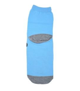 جوراب نیم ساق عروسکی طرح سگ غمگین آبی
