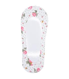 جوراب کالج دور ژلهای کف استپدار طرح گل سفید