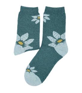 جوراب پشمی Coco & Hana طرح گل سبز