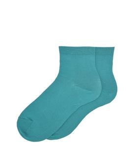 جوراب نیم ساق ساده سبزآبی