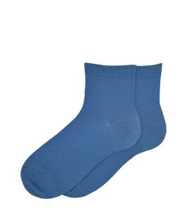 جوراب نیم ساق ساده سرمهای روشن