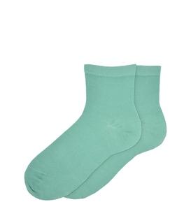 جوراب نیم ساق ساده سبز نعنایی