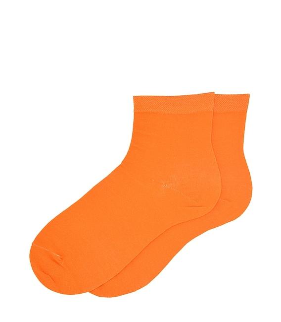 جوراب نیم ساق ساده نارنجی