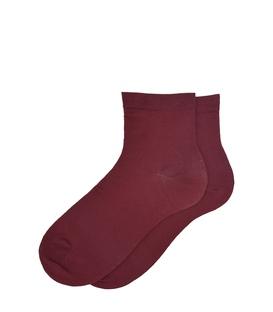 جوراب نیم ساق ساده زرشکی