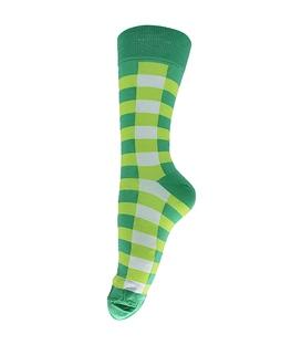 جوراب ساق بلند فانی ساکس مردانه چهارخونه سبز مغز پستهای کد 136