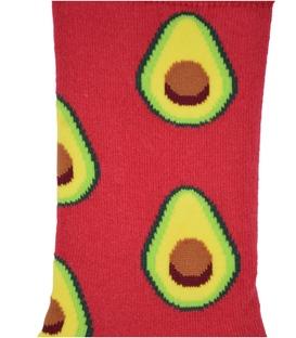 جوراب ساق دار Chetic طرح آووکادو قرمز