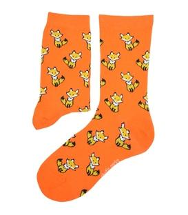 جوراب ساقدار Chetic چتیک طرح روباه کوچولو نارنجی