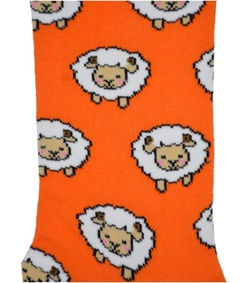 جوراب ساق دار Chetic طرح گوسفند کوچولو نارنجی