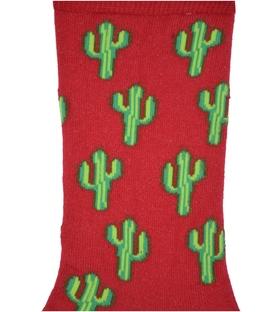جوراب ساق دار Chetic طرح کاکتوس قرمز سبز