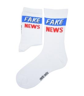 جوراب ساق دار Chetic طرح Fake News سفید