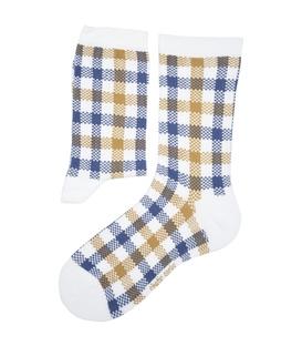 جوراب ساق دار Chetic چتیک طرح چهارخونه سفید