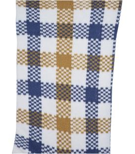 جوراب ساق دار Chetic طرح چهارخونه سفید
