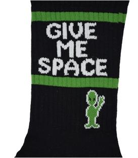 جوراب ساق دار Chetic طرح Give Me Space مشکی