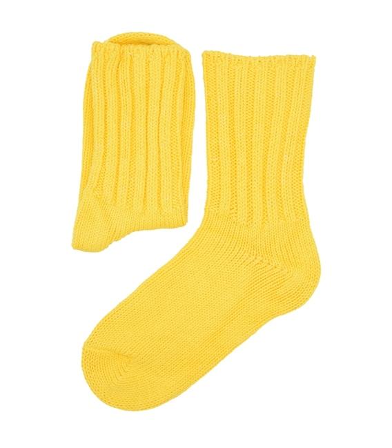 جوراب ساق دار بافت Chetic زرد