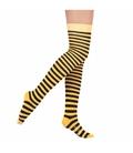جوراب بالای زانو Conoro طرح راه راه مشکی زرد (زنبوری)