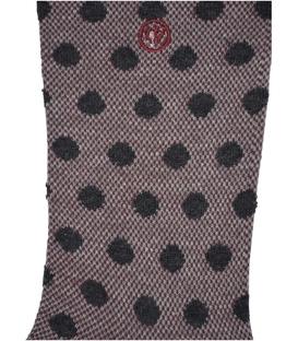 جوراب ساق دار Chetic طرح خال خالی زرشکی خردلی