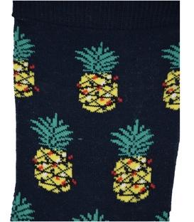جوراب ساق دار Chetic طرح آناناس کریسمس سرمهای