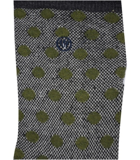 جوراب ساق دار Chetic طرح خال خالی خاکستری زیتونی