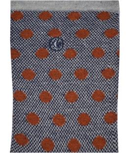 جوراب ساق دار Chetic طرح خال خالی خاکستری قهوهای