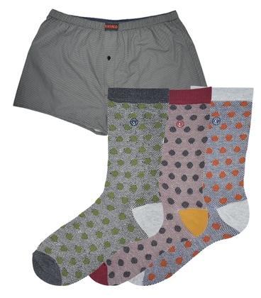 ست شورت و جوراب خال خالی - سایز XL