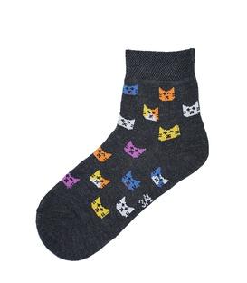 جوراب داینو ساکس بچگانه طرح گربه (3 تا 7 سال)